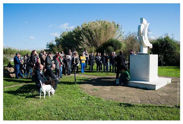 Commemorazione di Pasolini presso il Giardino letterario Pier Paolo Pasolini Centro Habitat Mediterraneo Lipu Ostia