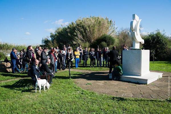 Commemorazione di Pasolini presso il Giardino letterario Pier Paolo Pasolini/Centro Habitat Mediterraneo Lipu Ostia - foto di F. Bernacca
