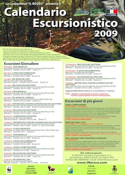 Calendario Escursionismo 2009