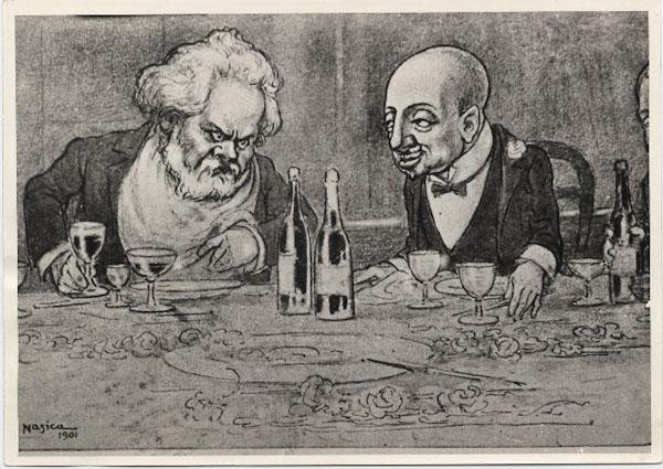 """Nasica, """"Carducci e d'Annunzio"""" (1901)"""